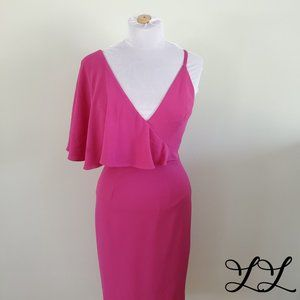 NWT Dress the Population Purple Pink Pencil Sexy